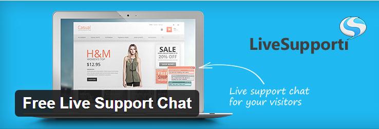 پشتیبانی آنلاین تیکت بر پایه پلاگین Free Live Support Chat