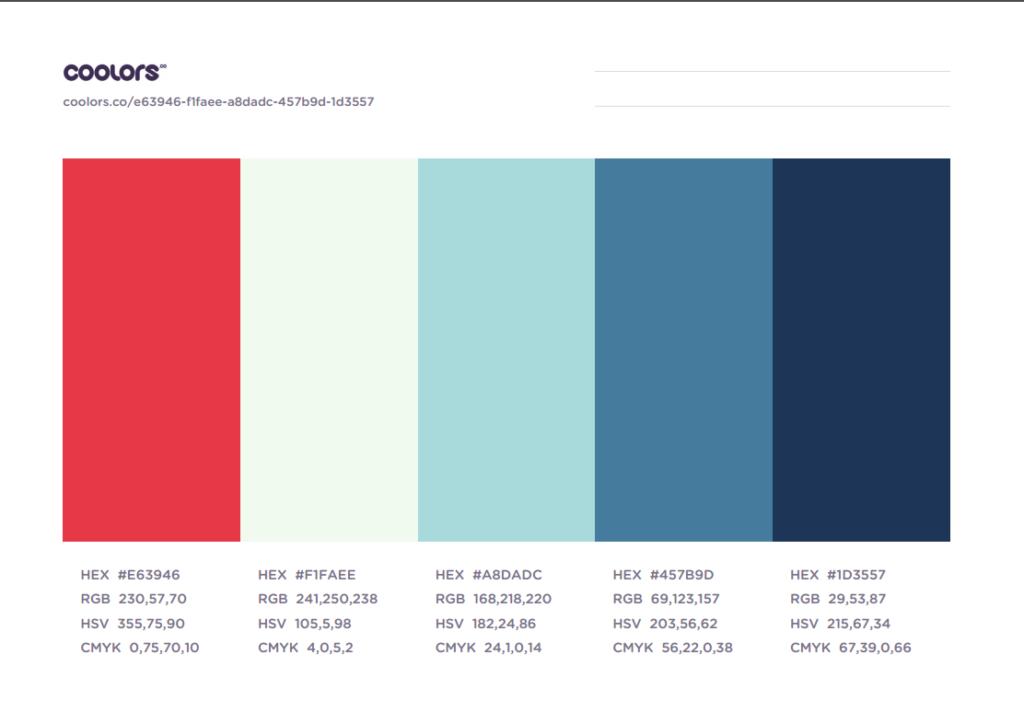 رنگی که ما برای طراحی قالب وردپرس انتخاب کردیم