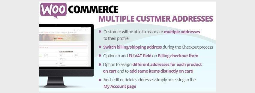 فزونه ووکامرس چندین آدرس برای مشتریWooCommerce Multiple Customer Addresses