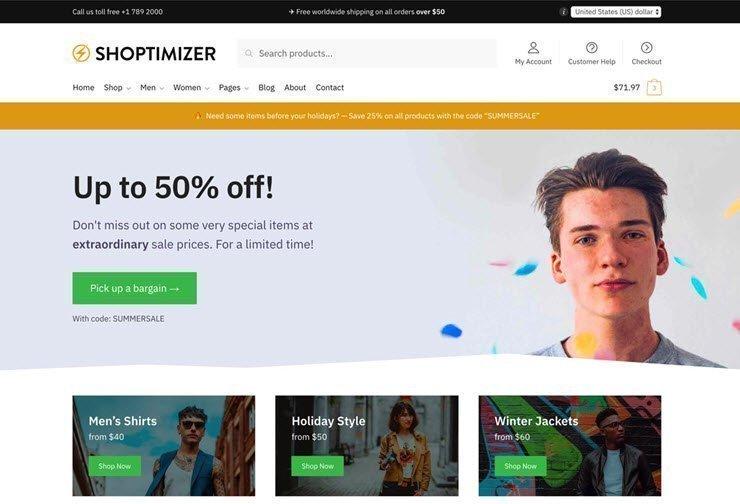 Shoptimizer قالب وردپرس