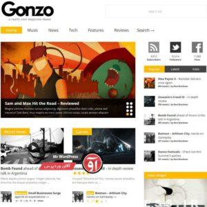 Read more about the article دانلود پوسته فارسی Gonzo وردپرس