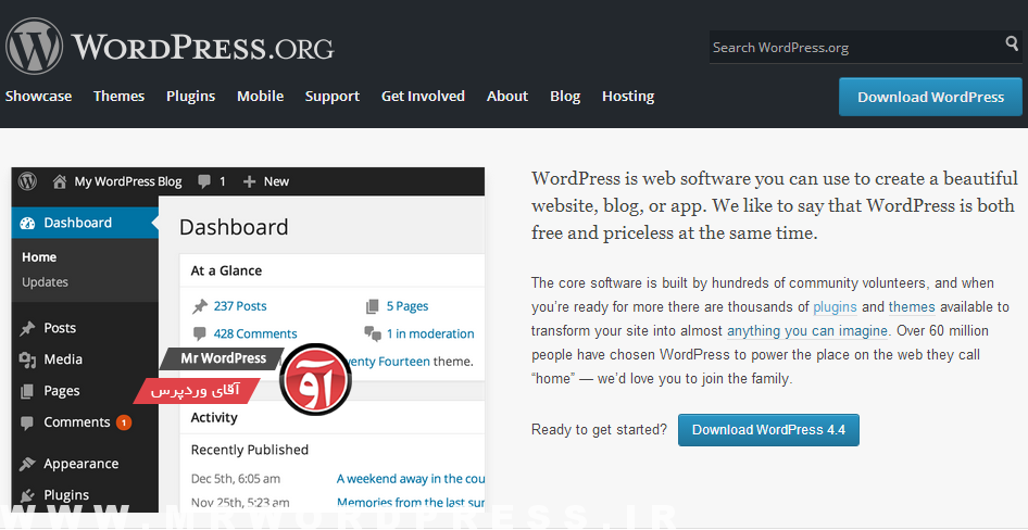 تفاوت wordpress.org با wordpress.com