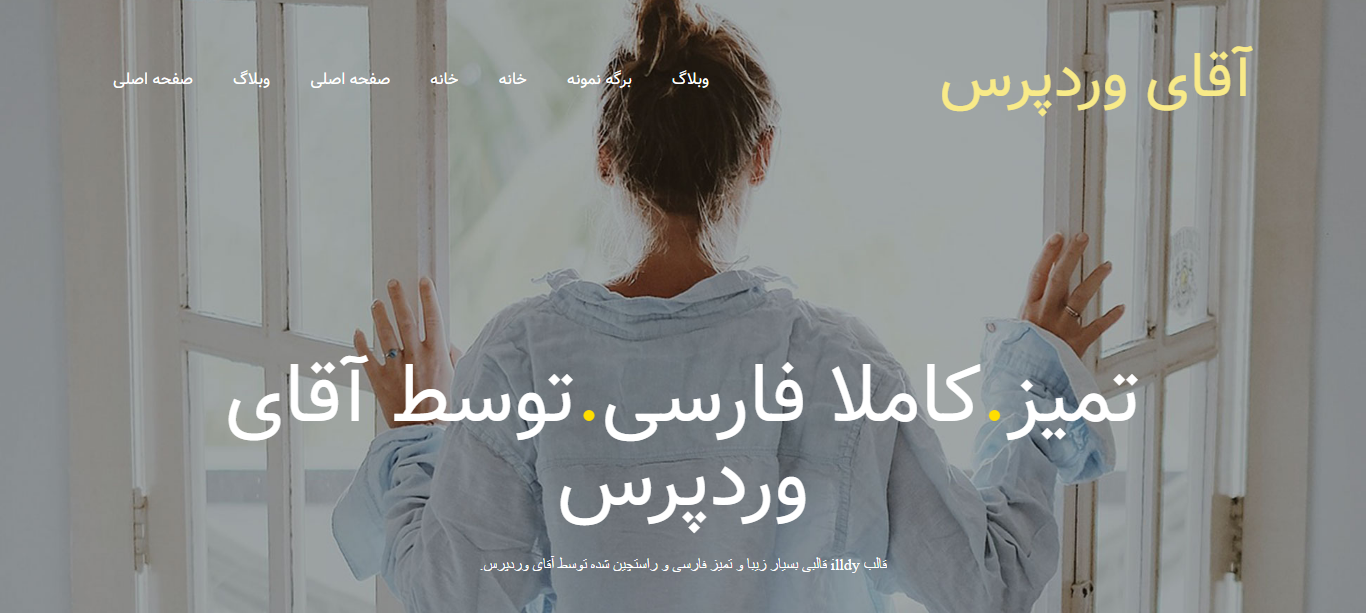 You are currently viewing قالب تک صفحه ای وردپرس illdy فارسی