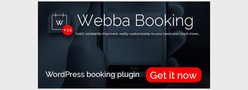 افزونه رزرواسیون وردپرس Webba Booking