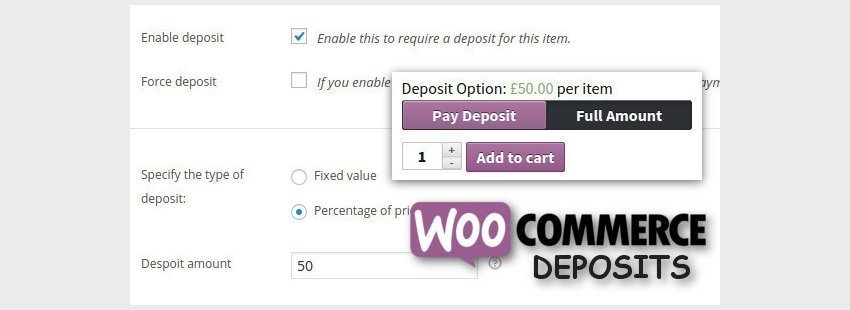افزونه WooCommerce Deposits - Partial Payments Plugin