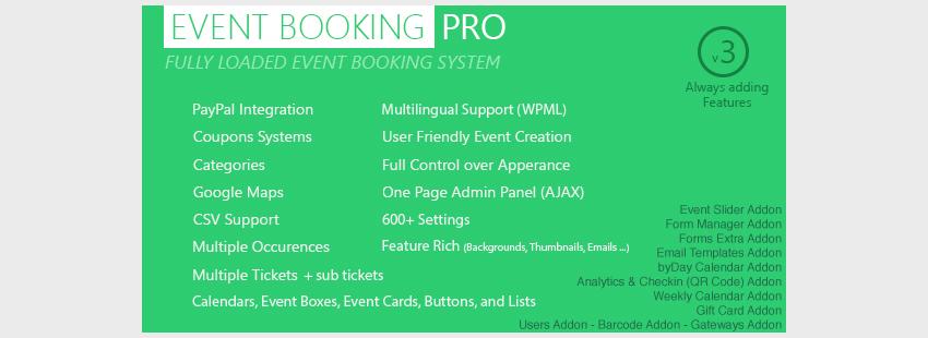 افزونه رزرو وقت وردپرس Event Booking