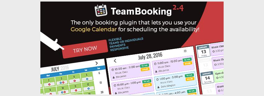 افزونه رزرواسیون وردپرس Team Booking