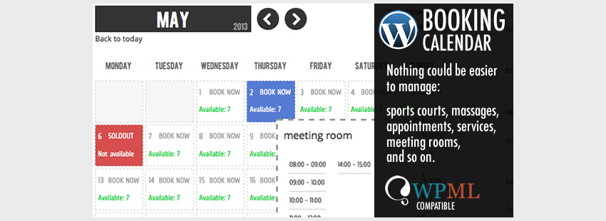 افزونه نوبت دهی وردپرس WP Booking Calendar