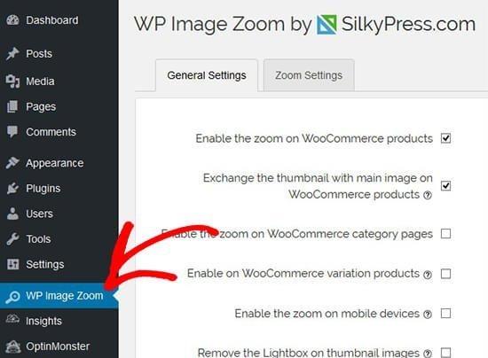 افزونه زوم تصویر وردپرس WP Image Zoom