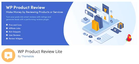 افزونه WP Product Review Lite